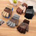 Внешний вид - Boys Kids Children Warm Knitted Gloves Winter Thick Full Mitten Finger Protector