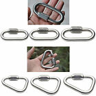 Triangle Shape Mountain Rock Climbing Stainless Steel Screw Lock Carabiner
