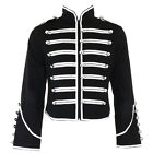 Banned Silver Black Steampunk Emo Parade Band Coat Gothic Drummer Style Jacket