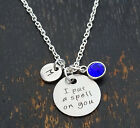 I put a spell on you Necklace, Witch Necklace, Halloween Jewelry, PERSONALIZED