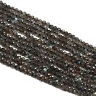Top Supplier Labradorite faceted Rondelle micro beads 4 mm 13* Strand For Jewlry