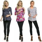Zeta Ville - Women's Maternity Nursing Top Layered Neckline Breastfeeding - 945c