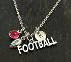 Football Necklace, Football Charm, Football Pendant, Foot Ball, PERSONALIZED