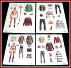 DAVID & VICTORIA BECKHAM Magazine Paper Dolls 4 PAGES