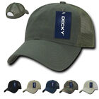 Decky Cotton Relaxed Trucker Baseball Caps Hats 6 Panel Pre Curved Bill
