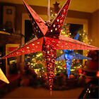 Chritmas Pentagram Lampshade Star Paper Lantern Hanging Wedding Xmas Decor UK
