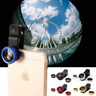 3 in 1 Camera Lens Kit Fish Eye+ Wide Angle + Macro for iPhone 5 6S iPad Samsung