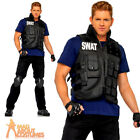 Adult Deluxe SWAT Commander Costume Mens Police Uniform Fancy Dress Outfit New