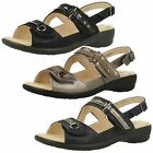 Ladies Padders Open Toe Sandals With Sling Back - Patience