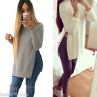 Fashion Women Autumn Winter Warm Long sleeve Jag Knitting Blouse Cardigan Shirt
