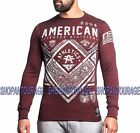 American Fighter Victory FM3102 Men`s New Long Sleeve Red Thermal By Affliction $47.95 USD on eBay