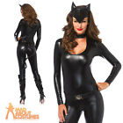 Sexy Feline Femme Fatale Costume Cat Woman Ladies Catsuit Fancy Dress Outfit New
