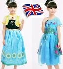 UK Seller Halloween Princess Elsa Anna Dress Costume Party Girls Fancy Dress