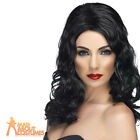 Adult Glamourous Wig Black Long Wavy Halloween Fancy Dress Costume Accessory New