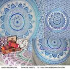 Assorted Blue DiyaBati Queen Twin Round Mandala Table Cloth Beach Throw Tapestry