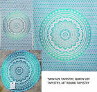 Assorted Green Ombre Queen Twin Round Mandala Table Cloth Beach Throw Tapestry