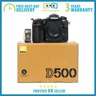 New Nikon D500 20.9MP DX DSLR Camera - 3 Year Warranty - Multiple Languages