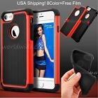 For iPhone 7 7plus Hard PC Bumper Soft Silicone Rubber 360 Shockproof Case Cover