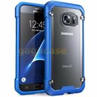 Blue/Frost Samsung Galaxy S6 Edge,Edge Plus Hybrid Rubber Shockproof Case Cover