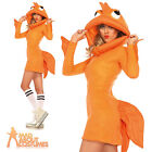 Adult Cozy Clown Gold Fish Costume Sexy Ladies Fancy Dress Outfit Leg Avenue