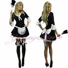 French Maid Victorian Fancy Dress Costume Womens Plus Size 6-18 Waitress Rocky
