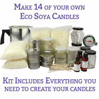 ULTIMATE Candle Making Kit LUXURY (14 Containers)   FREE UK DELIVERY