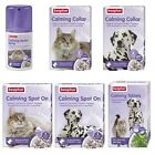 Beaphar Dog Puppy Cat Kitten Calming Spray SpotOn Collar Tablets Fireworks Stres