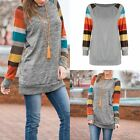 Women's Pullover Jumper Long Sleeve Knit Sweatshirt Tops Blouse Striped Clothes