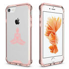 For Apple iPhone 6 6s 7 Plus Clear Shockproof Bumper Case Buddha Yoga Om Lotus