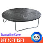 Round Weather Protection Rain Cover for Trampoline 8 10 12 FT Black Cover UK