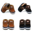 Newborn Toddler Baby Infant Boy Girl Soft Sole Crib Shoes Boots Size 0-12 Months