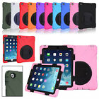 Silicone Rugged 360 Swivel Stand Case Shockproof For Apple iPad 2 3 4 5 6 Mini