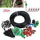 Micro Drip Irrigation System Plant Self Watering 25m Garden Hose Kits Drippers