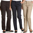Dickies Girl Juniors 71969 Flare Bottom Stretch Pants School Uniform Work Chinos