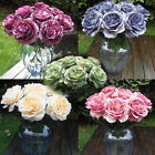 Craft Artificial Leaf Single Decor Peony Wedding Bridal Rose Silk Flowers