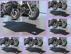 MLB Licensed Rubber Motorcycle Mat Garage Floor Protector Area Rug - Choose Team