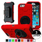Hard Outer Box Case Cover w/ Belt Clip Holster Stand for iPhone 6 6s  6 Plus 5.5
