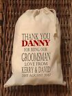 PERSONALISED GROOMSMAN Wedding Gift Bag 5 Sizes Available Danny #2 Design