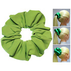 Apple Green Soft & Silky Scrunchie Ponytail Holder Hair Accessories  50+Colors