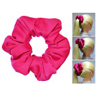 Hot Pink Full & Fluffy Scrunchies 3 Sizes Ponytail Holder Made in USA