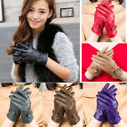 Women's Winter Genuine Lambskin Leather Gloves Fashion Warm Soft  Driving Gloves