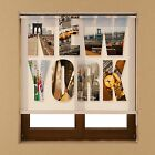 Colours Window Blackout Transparent Fabric Roller Up Blind Shade Various Sizes