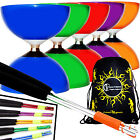 CAROUSEL Ball Bearing Diabolo + Coloured Metal Handsticks, Diablo String & Bag