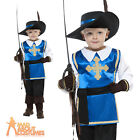 Boys Musketeer Costume Child Medieval Book Week Fancy Dress Outfit + Hat