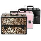 Lockable Cosmetic Organizer Stand Box Make Up Case Bag Jewelry Storage Case R3G4