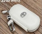 NEW Genuine T@oyota  Leather Car Key Holder Keychain Ring Case Bag 4colors