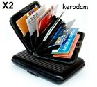 2X RFID BLOCKING ANTI THEFT WALLET ANTI-THEFT ALUMINUM ID CREDIT CARD ANTI SCAN