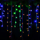 3.5M 96 LED Icicle Snowing Hanging Christmas Outdoor Garden Fairy Lights 01