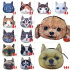Cat Dog Face Animal Zipper Women Coin Wallet Purse Bag Kids Coin Purse Pouch