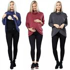 Zeta Ville - Women's Maternity Nursing Top Thin Knit Layered Wrap Design - 370c